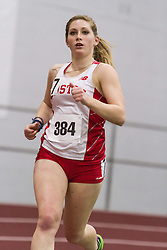 Boston University Multi-team indoor track & field, women one mile, heat 1, BU, 384