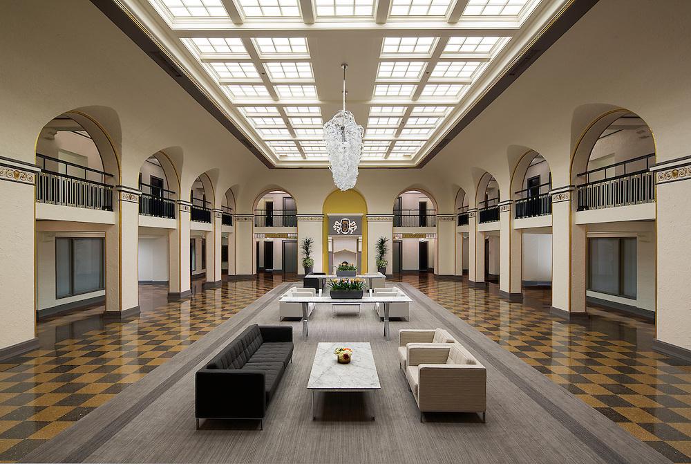 Interior Lobby of the Historic Senator Hotel in Sacramento, CA