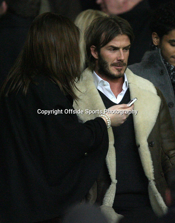 13/12/2010 - Barclays Premier League - Manchester United vs. Arsenal - David Beckham in the crowd - Photo: Simon Stacpoole / Offside.