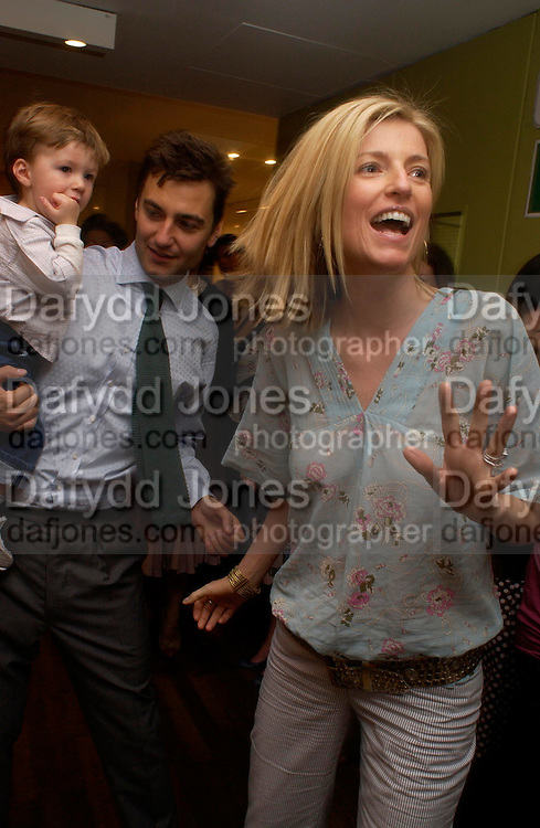 Euan Rellie, Lucy Sykes. and Lucy's son Heathcliff  Rellie.  Launch of 'Lucy  Sykes Baby, New York' Selfridges. 14 April 2005. ONE TIME USE ONLY - DO NOT ARCHIVE  © Copyright Photograph by Dafydd Jones 66 Stockwell Park Rd. London SW9 0DA Tel 020 7733 0108 www.dafjones.com