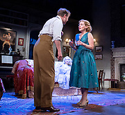 Blithe Spirit <br /> <br /> Noël Coward's classic comedy <br /> Blithe Spirit at The Duke of York's Theatre, London, Great Britain <br /> 6th March 2020 <br /> Press photocall <br /> directed by Sir Richard Eyre<br /> <br /> Opens on 10th March 2020 to 11th April 2020 <br /> <br /> <br /> Lisa Dillon as Ruth Condomine<br /> Geoffrey Streatfeild as Charles<br /> Emma Naomi as Elvira<br /> <br /> Photograph by Elliott Franks