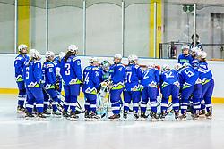Slovenian players during hockey match between Slovenia and Great Britain in IIHF World Womens Championship, Division II, Group A, on April 4, 2018 in Ledena dvorana Maribor, Maribor, Slovenia. Photo by Ziga Zupan / Sportida
