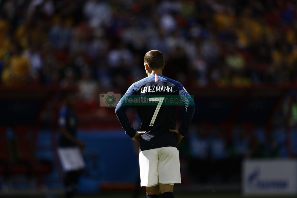 June 16, 2018 - Kazan, Kazan, Russia - Antoine Griezman of France, during the 2018 FIFA World Cup Russia group C match between France and Australia at Kazan Arena on June 16, 2018 in Kazan, Russia. (Credit Image: © Mehdi Taamallah/NurPhoto via ZUMA Press)