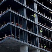SUNNY ISLES BEACH, FL - OCTOBER 25, 2016:<br /> Construction work on a high rise on Collins Avenue in Sunny Isles Beach where Donald Trump has several buildings. Russian realtors like Roman Brokeria have tapped into the Russian speaking customer base for Trump properties. (Photo by Angel Valentin/For The Washington Post)