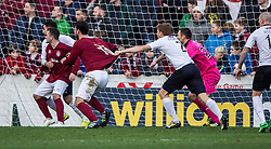 Raith Rovers Jason Thomson holds Linlithgow Rose Tommy Coyne.<br /> Linlithgow Rose 0 v 2 Raith Rovers, William Hill Scottish Cup Third Round game player today at Prestonfield.