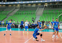 Dejan Vincic of Slovenia during volleyball match between National teams of Slovenia and Portugal in 2nd Round of 2018 FIVB Volleyball Men's World Championship qualification, on May 26, 2017 in Arena Stozice, Ljubljana, Slovenia. Photo by Vid Ponikvar / Sportida