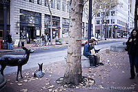 Homeless youth in Portland, Oregon.