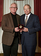 David Pidwell, Konneker medal winner and Dennis Irwin, dean of the Russ College of Engineering and Technology