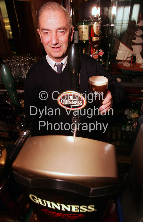 3/4/2006.Photo Caption:. ..Pictured is the Carlow finalist in the Best Guinness® Bartender in Ireland competition, James McDermott, from McDermott's Bar, Co. Carlow. James, known as Jimmy, is now in the running for the title 'Best Guinness® Bartender in Ireland'. He will compete in the next round of the competition in April, where county finalists from neighbouring counties will battle it out for a place in the Grand Final at the end of May.  .Picture Dylan Vaughan.