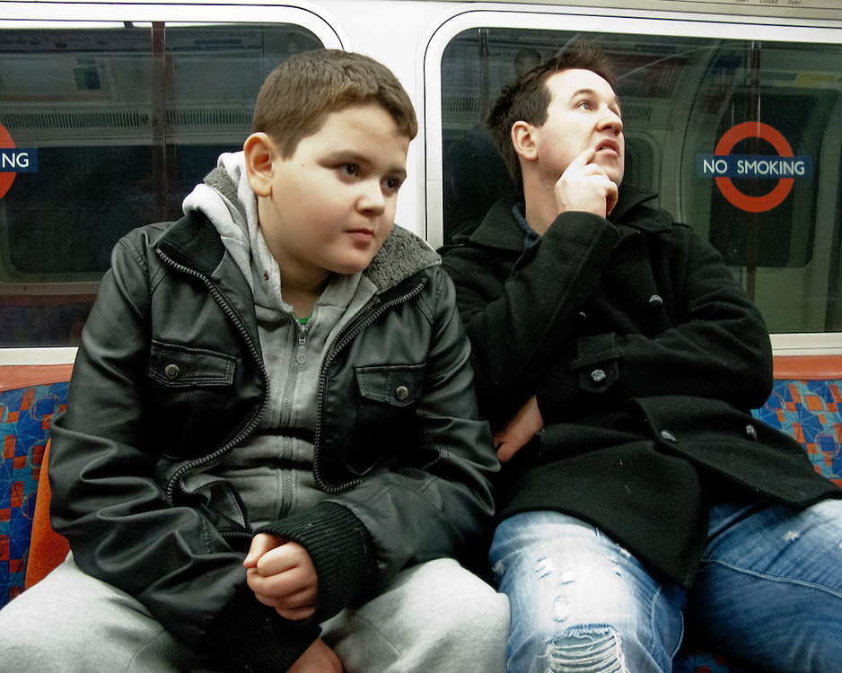 Portrait of a young boy on the London Underground
