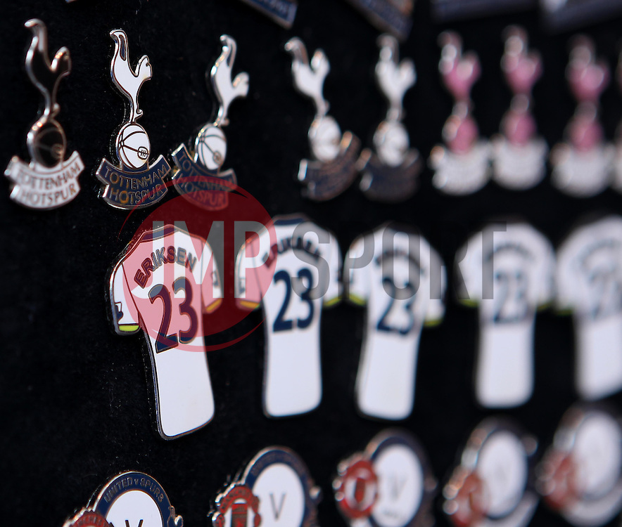Badges of Christian Eriksen shirts and Spurs emblem - Photo mandatory by-line: Robbie Stephenson/JMP - Mobile: 07966 386802 - 11/04/2015 - SPORT - Football - London - White Hart Lane - Tottenham Hotspur v Aston Villa - Barclays Premier League