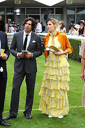 Left to right, polo player NACHO FIGUERAS and DELFINA BLAQUIER at the 3rd day of the 2008 Glorious Goodwood racing festival at Goodwood Racecourse, West Sussex on 31st July 2008.<br /> <br /> NON EXCLUSIVE - WORLD RIGHTS