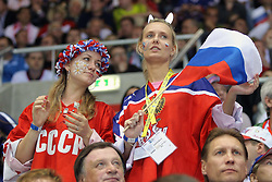 12.05.2011, Orange Arena, Bratislava, SVK, IIHF 2011 World Championship, Canada vs Russia, im Bild RUSSIA'S FANS. EXPA Pictures © 2011, PhotoCredit: EXPA/ EXPA/ Newspix/ .Tadeusz Bacal +++++ ATTENTION - FOR AUSTRIA/(AUT), SLOVENIA/(SLO), SERBIA/(SRB), CROATIA/(CRO), SWISS/(SUI) and SWEDEN/(SWE) CLIENT ONLY +++++