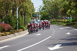 The peloton approach at Tour of Chongming Island 2019 - Stage 2, a 126.6 km road race from Changxing Island to Chongming Island, China on May 10, 2019. Photo by Sean Robinson/velofocus.com