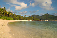 The beach at Baie Lazare<br /> Mahe, The Seychelles<br /> c. Ellen Rooney