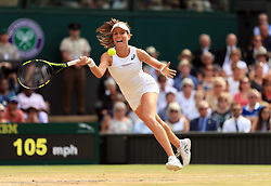 File photo dated 13-07-2017 of Johanna Konta during her match against Venus Williams on day ten of the Wimbledon Championships at The All England Lawn Tennis and Croquet Club, Wimbledon.