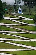 Muniz Freire_ES, Brasil...Morro do Cruzeiro com a capela Nossa Senhora das Dores no alto...Morro do Cruzeiro with the Lady of Sorrows  chapel in the top...Foto: LEO DRUMOND / NITRO