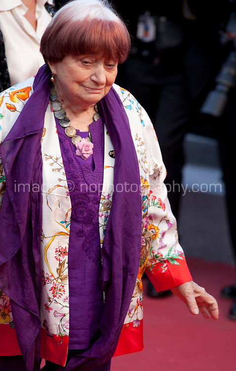Director Agnès Varda at the Blackkklansman (Black Klansman) gala screening at the 71st Cannes Film Festival, Monday 14th May 2018, Cannes, France. Photo credit: Doreen Kennedy