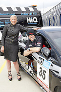 HiQ Easy Tyre helping Team Dynamics keep on the track at rockingham. Emma-Jane Kisby, with driver, Paul O'Neill.