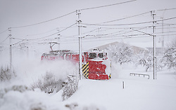 THEMENBILD - ein SChneeräumzug der ÖBB, aufgenommen am 10. Jaenner 2019 in Hopfgarten, Oesterreich // a snow removal train of the Austrian Federal Railways, Hopfgarten, Austria on 2019/01/10. EXPA Pictures © 2019, PhotoCredit: EXPA/ JFK
