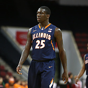 Kendrick Nunn #25 of the Illinois Fighting Illini is seen on the court during the NIT First Round game at Agganis Arena on March 19, 2014 in Boston, Massachusetts . (Photo by Elan Kawesch)