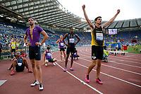 Keriem Hussein SUI (L), Leonardo Capotosti ITA (R) 400hs <br /> Roma 04-06-2015 Stadio Olimpico<br /> IAAF Diamond League 2015 Rome<br /> Golden Gala Meeting - Track And Field Athletics Meeting<br /> Foto Sebastian Seglingen / ARK / Insidefoto