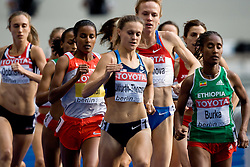 Christin Wurth-Thomas of USA and Gelete Burka of Ethiopia competes in  the women's 1500m Final during the day nine of the 12th IAAF World Athletics Championships at the Olympic Stadium on August 23, 2009 in Berlin, Germany. (Photo by Vid Ponikvar / Sportida)