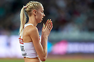 Great Britain, London - 2017 August 07: Iga Baumgart (BKS Bydgoszcz) of Poland competes in women's 400 meters final during IAAF World Championships London 2017 Day 4 at London Stadium on August 07, 2017 in London, Great Britain.<br /> <br /> Mandatory credit:<br /> Photo by © Adam Nurkiewicz<br /> <br /> Adam Nurkiewicz declares that he has no rights to the image of people at the photographs of his authorship.<br /> <br /> Picture also available in RAW (NEF) or TIFF format on special request.<br /> <br /> Any editorial, commercial or promotional use requires written permission from the author of image.