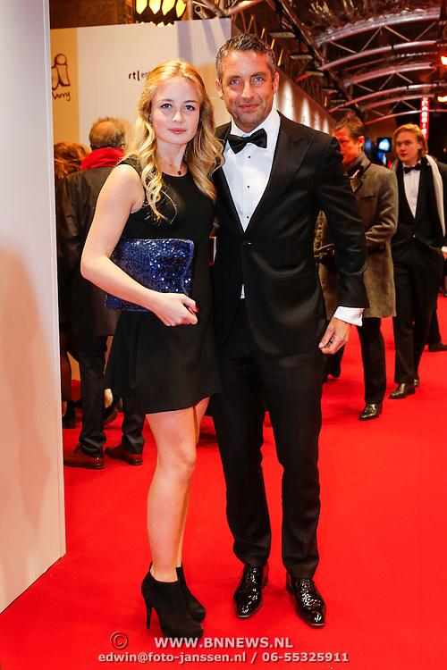 NLD/Amsterdam/20130211- Filmpremiere Ushi Must Marry, Matthis Scholten en dochter