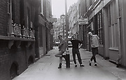 Teenagers in Silver Place, Soho, London, UK, 1983