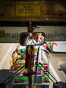 15 SEPTEMBER 2016 - BANGKOK, THAILAND:  Driving the number 15 bus down Rama I Road in Bangkok.      PHOTO BY JACK KURTZ