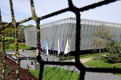 25.09.2015, FIFA Hauptquartier, Zuerich, SUI, Sitzung des FIFA Exekutivkomitees, absage der Pressekonferenz, im Bild Übersicht auf das FIFA Hauptquartier, eine angekündigte Pressekonferenz nach der Sitzung des FIFA Exekutivkomitees wurde abgesagt // The FIFA headquarters in Zurich. A scheduled press conference following the FIFA Executive Committee meeting was cancelled today during FIFA Executive Committee Meeting at the FIFA Hauptquartier in Zuerich, Switzerland on 2015/09/25. EXPA Pictures © 2015, PhotoCredit: EXPA/ Freshfocus/ Steffen Schmidt<br /> <br /> *****ATTENTION - for AUT, SLO, CRO, SRB, BIH, MAZ only*****