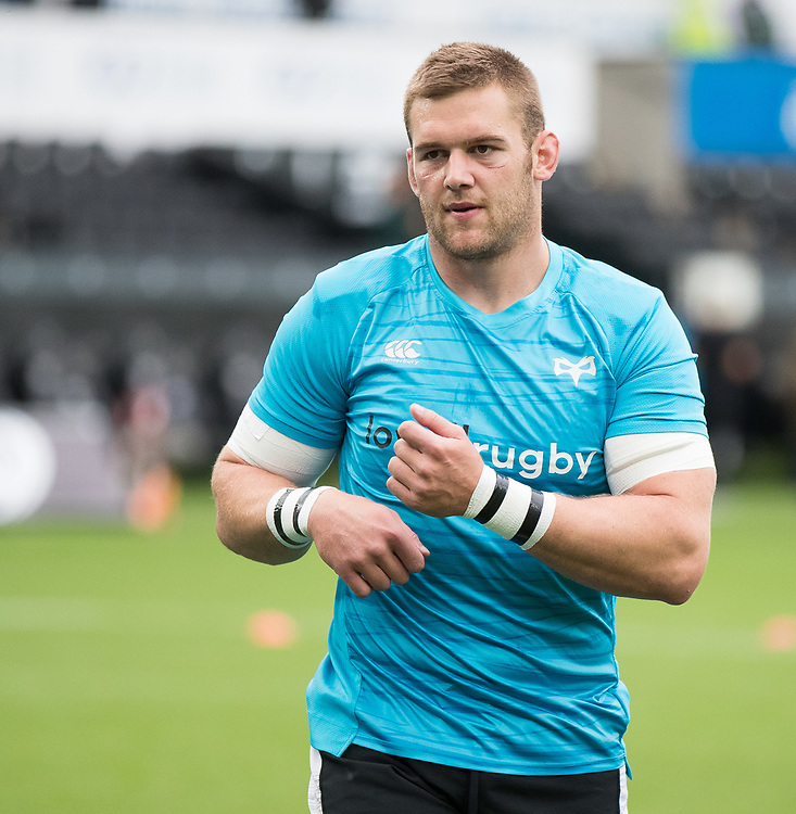 Dan Lydiate of Ospreys during the pre match warm up<br /> <br /> Photographer Simon King/Replay Images<br /> <br /> Guinness PRO14 Round 2 - Ospreys v Cheetahs - Saturday 8th September 2018 - Liberty Stadium - Swansea<br /> <br /> World Copyright © Replay Images . All rights reserved. info@replayimages.co.uk - http://replayimages.co.uk