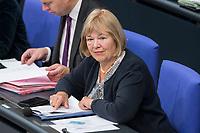 08 NOV 2018, BERLIN/GERMANY:<br /> Bettina Hagedorn, MdB, Parl. Staatssekretaerin im Bundesministerium der Finanzen, Bundestagsdebatte zum Gesetzentwurf der Bundesregierung ueber Leistungsverbesserungen und Stabilisierung in der gesetzlichen Rentenversicherung, Plenum, Deutscher Bundestag<br /> IMAGE: 20181108-01-029<br /> KEYWORDS: Sitzung