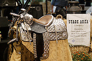 This silver mounted parade saddle brought in $6,500 as part of the live auction during the 2010 Cattle Baron's Ball at the home of David and Shery Oakes in Centerville, Saturday, August 28, 2010.