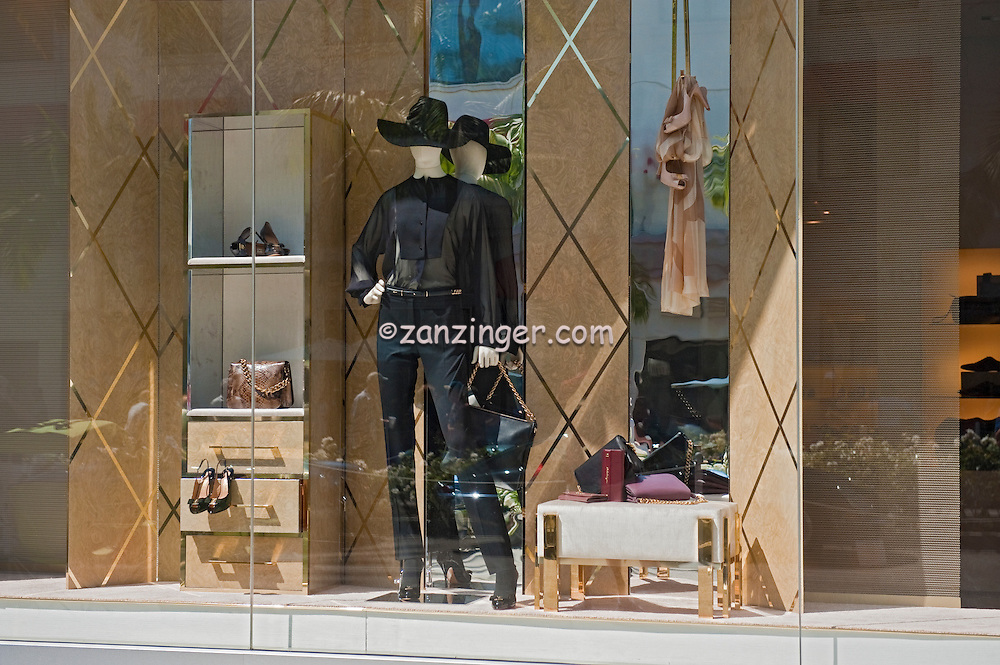Salvatore Ferragamo, Apparel, Window Display, Rodeo Drive, Beverly Hills, CA, Luxury Shopping, Boutiques,