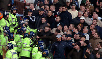 Photo: Ed Godden.<br />Wolverhampton Wanderers v Cardiff City. Coca Cola Championship. 11/03/2006. <br />Police deal with the angry Cardiff fans.