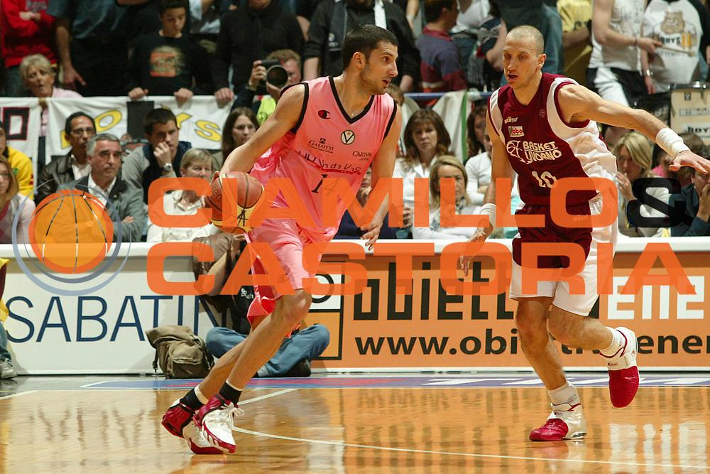 DESCRIZIONE : Bologna Lega A1 2005-06 VidiVici Virtus Bologna Basket Livorno <br /> GIOCATORE : Vukcevic <br /> SQUADRA : VidiVici Virtus Bologna <br /> EVENTO : Campionato Lega A1 2005-2006 <br /> GARA : VidiVici Virtus Bologna Basket Livorno <br /> DATA : 02/04/2006 <br /> CATEGORIA : Penetrazione <br /> SPORT : Pallacanestro <br /> AUTORE : Agenzia Ciamillo-Castoria/G.Livaldi