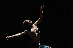 © Licensed to London News Pictures. 27/01/2012. Sadler's Wells, London. Former Royal Ballet Principal, Ivan Putrov, presents an evening of works exploring the beauty of the male form in motion. Joining him onstage will be Royal Ballet sensation Sergei Polunin, Mariinsky Ballet Principal Igor Kolb, Critics' Circle Award-winner Daniel Proietto, English National Ballet Senior Principal Elena Glurdjidze and South Bank Show Breakthrough Artist award-winner Aaron Sillis. .Picture shows Daniel Proietto in AfterLight (Part One). Photo credit : Tony Nandi/LNP