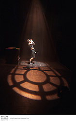 Canadian writer / performer Rick Miller prepares for his show, MacHomer, at the Opera House in Wellington New Zealand.