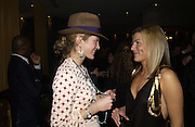 Rose Astor and Alex Gore Browne. The Tatler Little Black book party in association with Chopard. Aviva loungs, BAGLIONE HOTEL. HYDE PARK GATE. LONDON SW7. 9 November 2005. ONE TIME USE ONLY - DO NOT ARCHIVE © Copyright Photograph by Dafydd Jones 66 Stockwell Park Rd. London SW9 0DA Tel 020 7733 0108 www.dafjones.com