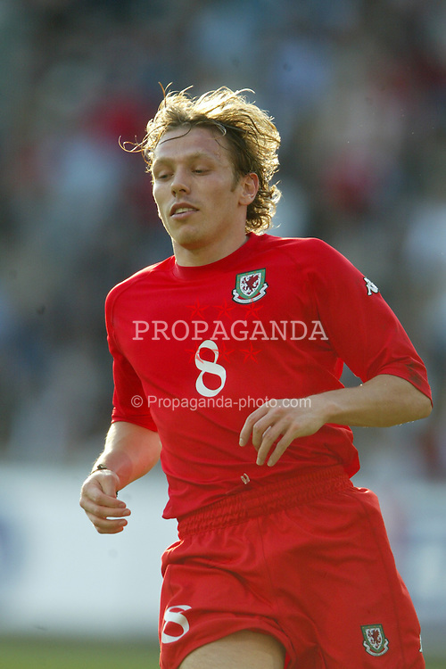 OSLO, NORWAY - Thursday, May 27, 2004:  Wales' Craig Bellamy in action against Norway during the International Friendly match at the Ullevaal Stadium, Oslo, Norway. (Photo by David Rawcliffe/Propaganda)