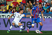 VALENCIA, SPAIN - MARCH 10: (R) Vicente Iborra of Levante UD  is followed by (L) Jaime Gavilan of Getafe CF  during the Liga BBVA between Levante UD and Getafe CF at the Ciutat de Valencia stadium on February 25, 2013 in Valencia, Spain. (Photo by Aitor Alcalde Colomer).