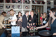 PARTY SCENE; AMBER ATHERTON ON LEFT: JOHN HURT BEING INTERVIEWED, Liberatum Cultural Honour  for John Hurt, CBE in association with artist Svetlana K-Lié.  Spice Market, W London - Leicester Square