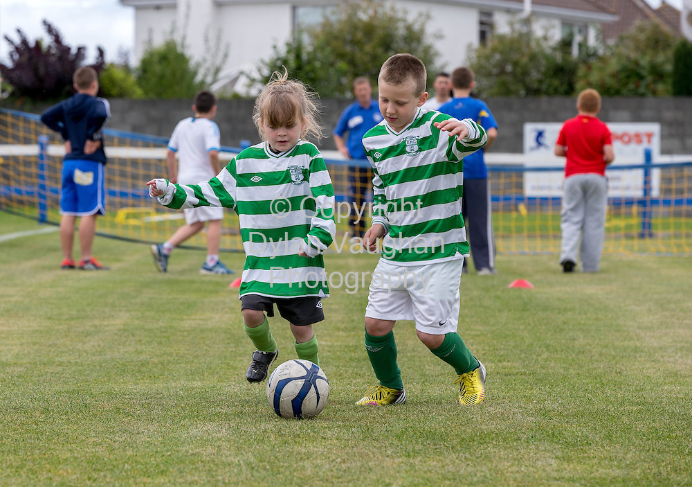 No Charge for repro<br /> <br /> 31/8/2013<br /> Future Football Family Fun Day comes to Dungarvan!<br /> McDonald's Restaurants in Dungarvan, Clonmel, Cashel, Kilkenny and Wexford which are owned and operated by Chris Pim, Siobhan Sleator and Bernard Byrne; ; the Football Association of Ireland (FAI) and local football clubs Dungarvan Utd AFC, Clonmel Celtic FC, Wexford Celtic FC and Evergreen FC teamed up to host a free community fun day on Sunday 31st of August. The Family Fun day was part of McDonald&rsquo;s FAI Future Football, a brand new programme supporting the development of football at grassroots level in clubs nationwide.<br /> <br /> Pictured at the Future Football Family Fun Day was participants from Evergreen FC Muireann Cashin and Jack Docherty.<br /> <br /> Picture Dylan Vaughan.
