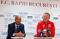 BOEKAREST - 19-08-15, Europa League, Astra GiurGiu - AZ, persconferentie, AZ trainer John van den Brom, Daan Schippers.