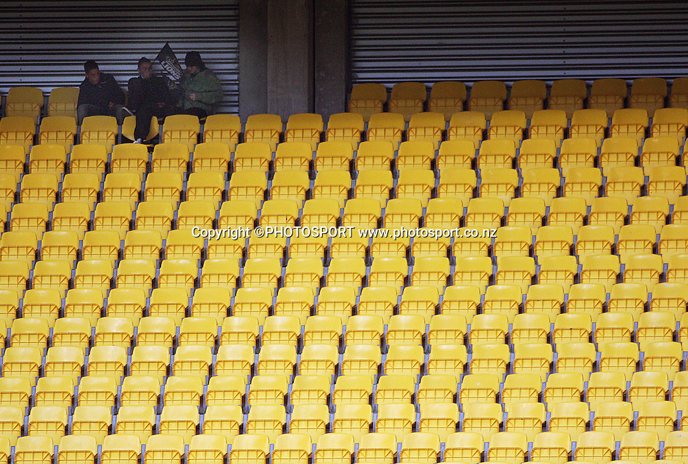 Spectators wait for kick-off.<br /> Air NZ Cup semi-final. Wellington Lions v Southland Stags at Westpac Stadium, Wellington, New Zealand, Friday, 17 October 2008. Photo: Dave Lintott/PHOTOSPORT