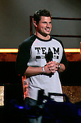 Celebrity Choir Leader Nick Lachey appears onstage during the NBC 'Clash Of The Choirs' full show rehearsal at Steiner Studios in Brooklyn, New York City, USA on December 16, 2007.
