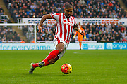 Stoke City Defender Glen Johnson on the attack  during the Barclays Premier League match between Newcastle United and Stoke City at St. James's Park, Newcastle, England on 31 October 2015. Photo by Craig McAllister.