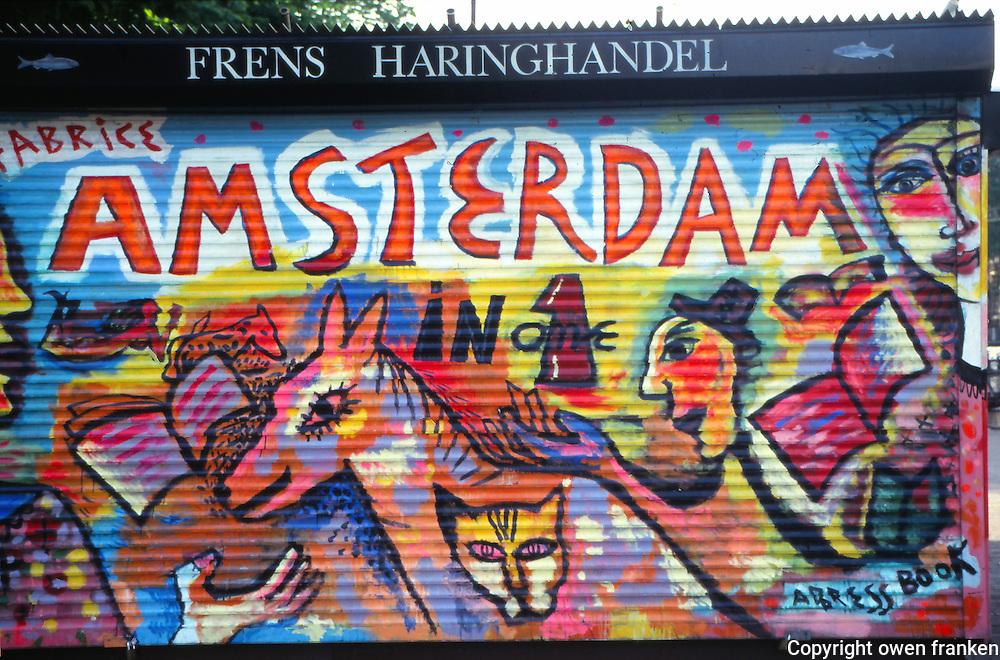 Amsterdam, graffiti, Jordaan